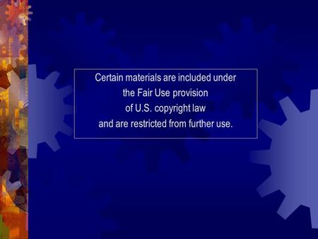Certain materials are included under the Fair Use provision of U.S. copyright law and are restricted from further use.