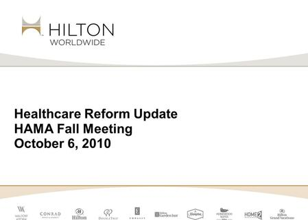 Healthcare Reform Update HAMA Fall Meeting October 6, 2010.