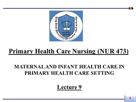 Primary Health Care Nursing (NUR 473)