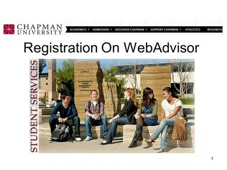 Registration On WebAdvisor 1. Login to Web Advisor 2.