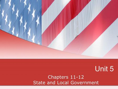 Chapters State and Local Government