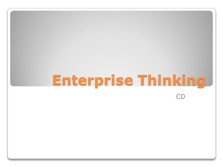 Enterprise Thinking CD. Business Case Alpina SA ranked #4 in sales as Colombia's largest Food and Beverage Company. Sales 2009 U$550 millions dollars.