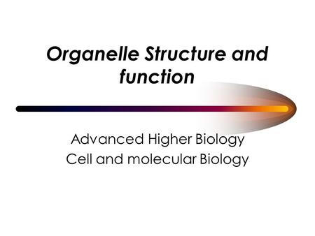 Organelle Structure and function