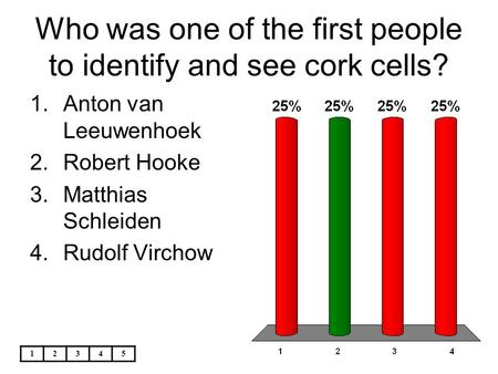 Who was one of the first people to identify and see cork cells?