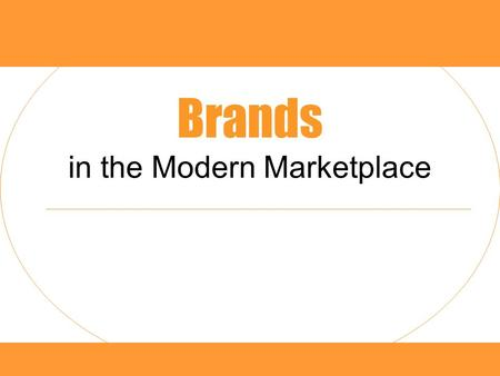 Brands in the Modern Marketplace