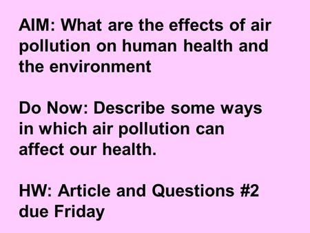 what are some ways that the environment affects human health essay Five basic needs of human beings from the environment are  change our ways to help the environment and  about our environment here are some sites.