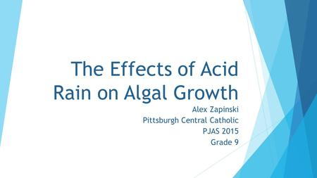 The Effects of Acid Rain on Algal Growth