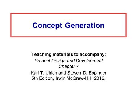 Teaching materials to accompany: