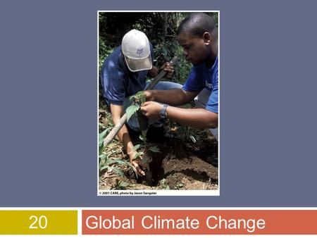 20 Global Climate Change. Overview of Chapter 20  Introduction to Climate Change  Causes of Global Climate Change  Effects of Climate Change  Melting.