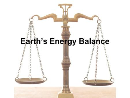Earth's Energy Balance. We are Sun Powered Earth is warmed by the sun –Exception: geothermal energy The Sun adds 342 Watts of energy per square meter.