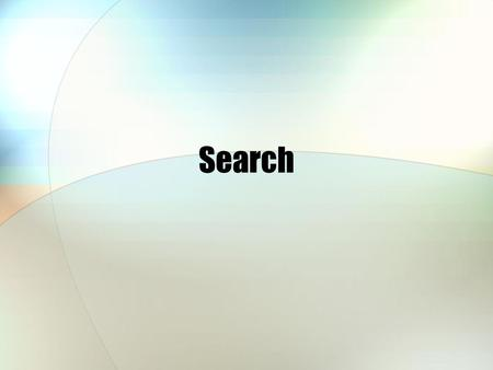 Search. Jaruloj ChongstitvatanaSearch2 Outline Problem space/ State space Exhaustive search Depth-first search Breadth-first search Backtracking Branch-and-bound.