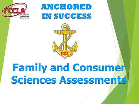 Family and Consumer Sciences Assessments