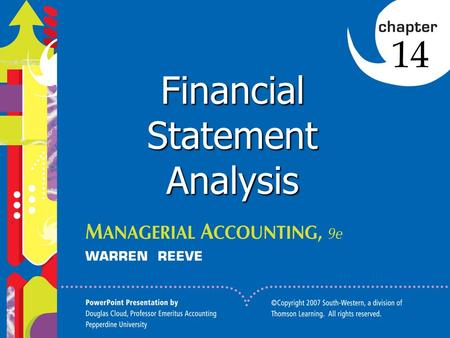 1 Click to edit Master title style 1 1 1 Financial Statement Analysis 14.