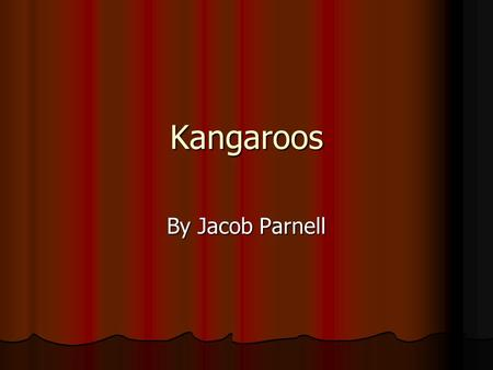 Kangaroos By Jacob Parnell. What is the Kangaroo's Average Life Span? The kangaroos do not live like we do. We live to be about 100 years old. Instead.