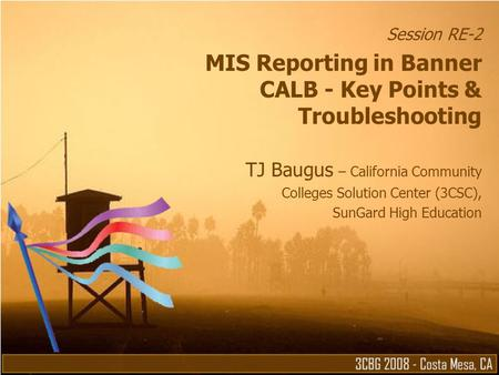 MIS Reporting in Banner CALB - Key Points & Troubleshooting