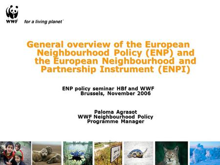 General overview of the European Neighbourhood Policy (ENP) and the European Neighbourhood and Partnership Instrument (ENPI) ENP policy seminar HBf and.