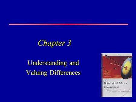 Chapter 3 Understanding and Valuing Differences. A Rich Stew The modern workplace is much more than a melting pot <strong>in</strong> which contents are transformed into.