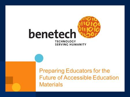 Preparing Educators for the Future of Accessible Education Materials.