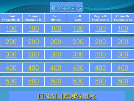 JEOPARDY FINAL JEOPARDY