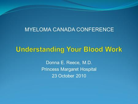 Understanding Your Blood Work