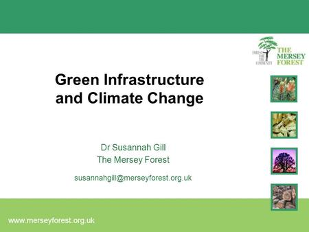 Green Infrastructure and Climate Change Dr Susannah Gill The Mersey Forest