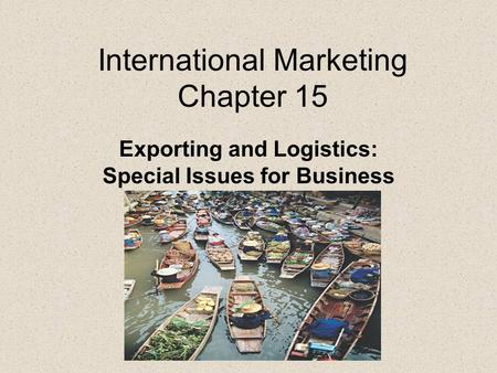 International Marketing Chapter 15