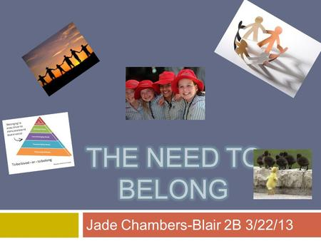 "Jade Chambers-Blair 2B 3/22/13. Aristotle's Social Animals  Psychologist and Philosopher Aristotle once wrote that ""Without friends, no one would choose."