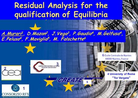 A.Murari 1 (24) Frascati 27 th March 2012 Residual Analysis for the qualification of Equilibria A.Murari 1, D.Mazon 2, J.Vega 3, P.Gaudio 4, M.Gelfusa.