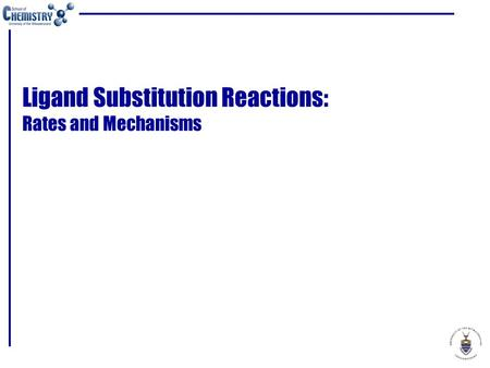 reaction of ligand substitution Ligand substitution reaction with excess nh3 with excess nh3 ligand substitution reactions occur with several transition aqueous ions the ligands nh3 and h2o are similar in size and are.