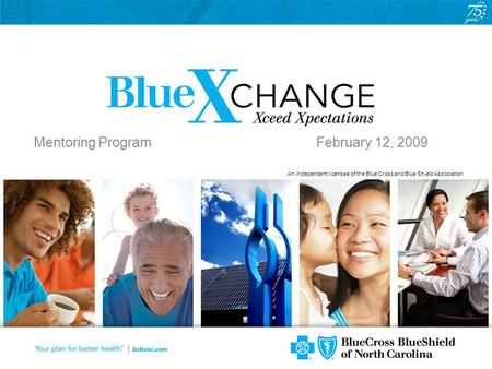 An independent licensee of the Blue Cross and Blue Shield Association Mentoring Program February 12, 2009.