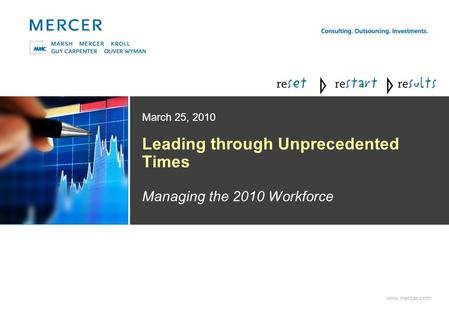 Www.mercer.com Leading through Unprecedented Times Managing the 2010 Workforce March 25, 2010.