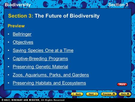 Section 3: The Future of Biodiversity