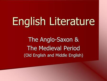 Anglo-Saxon Heroic Poetry Essay Sample