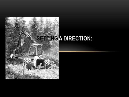 SETTING A DIRECTION:. GOAL SETTING Your goals for woodlot management should directly reflect your values. Common goals of woodlot owners include: Supplementing.