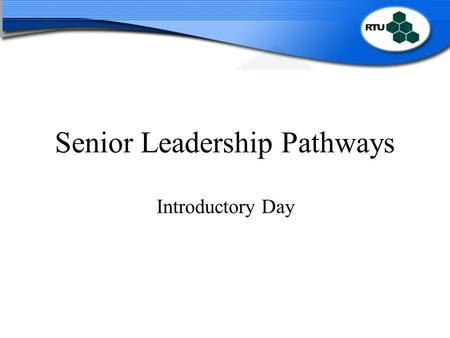 Senior Leadership Pathways Introductory Day. Providing Quality, Excellence and Improvement in the Education Service Programme for the day 09.45 – 10.00Welcome.