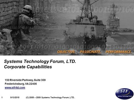 Systems Technology Forum, LTD. Corporate Capabilities