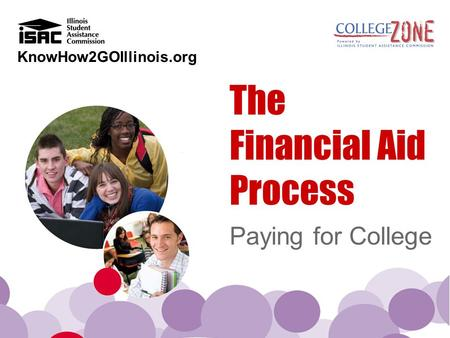 KnowHow2GOIllinois.org The Financial Aid Process Paying for College.