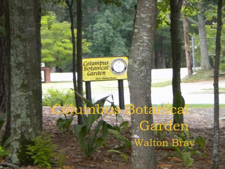"Columbus Botanical Garden Walton Bray. Mission: ""To preserve a portion of the rapidly diminishing open space in Columbus and to provide the public with."