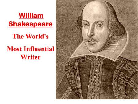 a biography of william shakespeare one of the most talanted writers of all time Is generally acknowledged to be the greatest of english writers and one of the most s wells, shakespeare for all time life of william shakespeare.