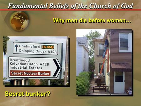 "Secret bunker? Why men die before women…. Fundamental Beliefs of the Church of God Review – Sacrifice of Christ… 1.What is the Greek word translated ""only."