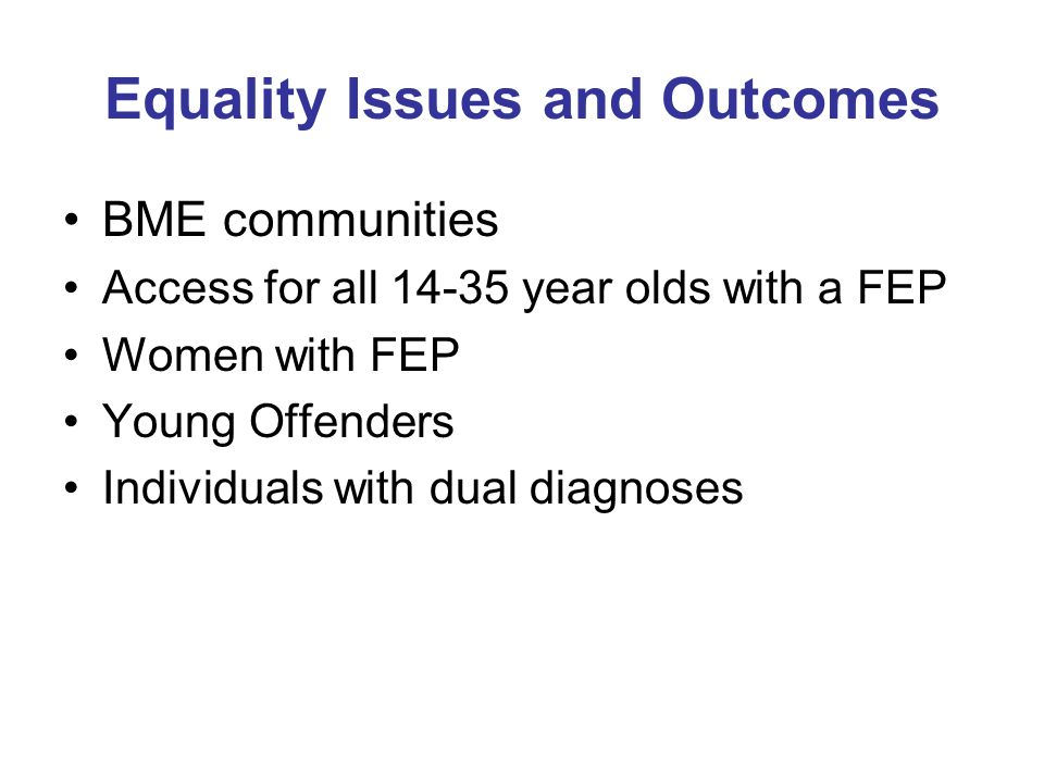 Victoria (Aus) Burden of Disease Study: Incident Years Lived with Disability rates per 1000 population by mental disorder FEP typically commences in young people: as do many of the more serious mental disorders