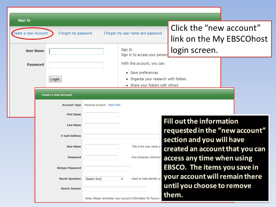 Requesting an Article in EBSCO through Interlibrary Loan Click the ILL link available with many listings.