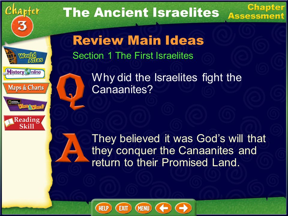 Why did the Israelites fight the Canaanites.