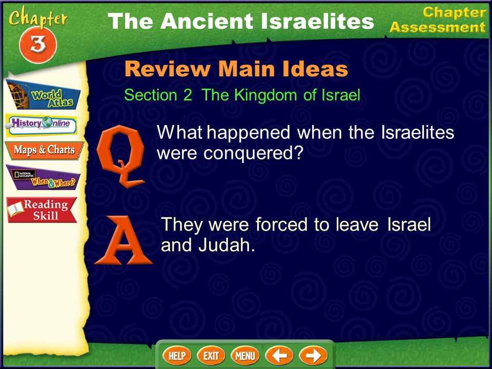 Section 2 The Kingdom of Israel What happened when the Israelites were conquered.