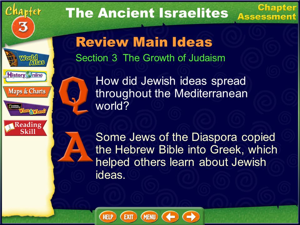 Section 3 The Growth of Judaism How did Jewish ideas spread throughout the Mediterranean world.