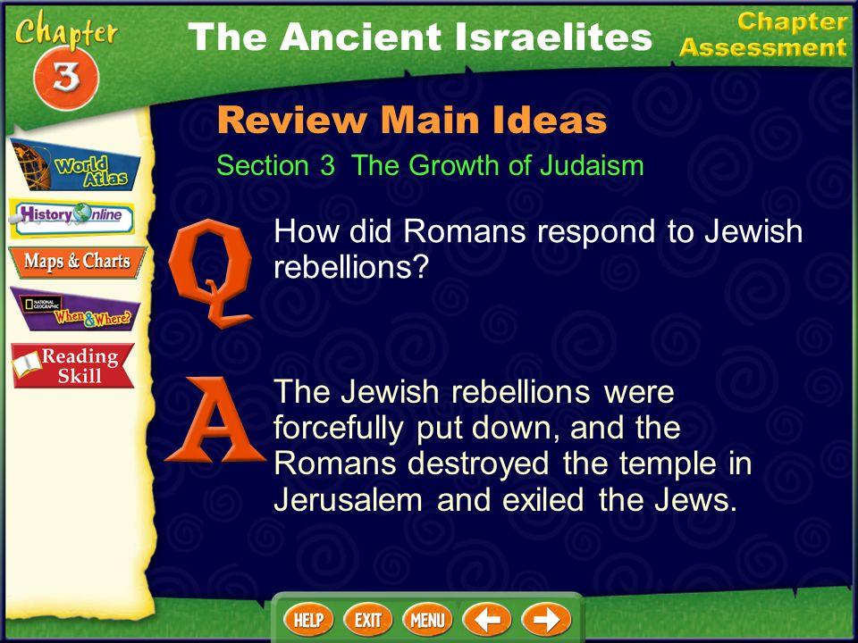 How did Romans respond to Jewish rebellions.