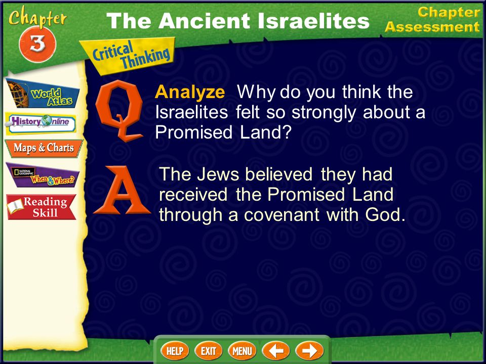 Analyze Why do you think the Israelites felt so strongly about a Promised Land.