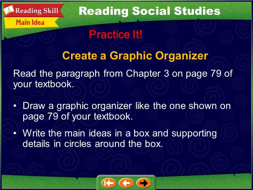 Create a Graphic Organizer Practice It.