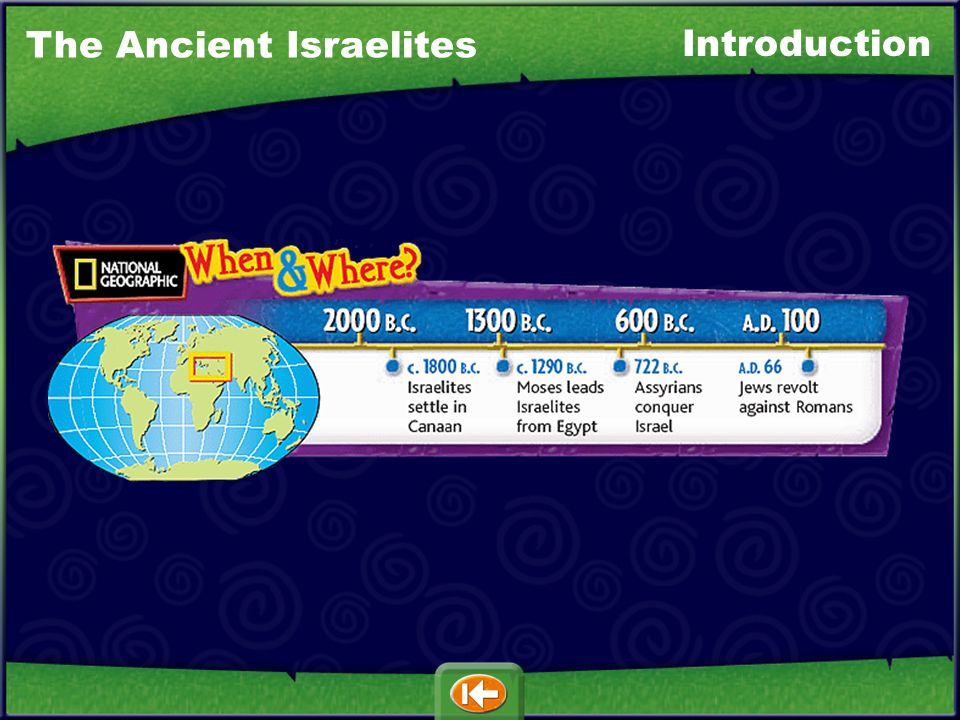 The Ancient Israelites Introduction