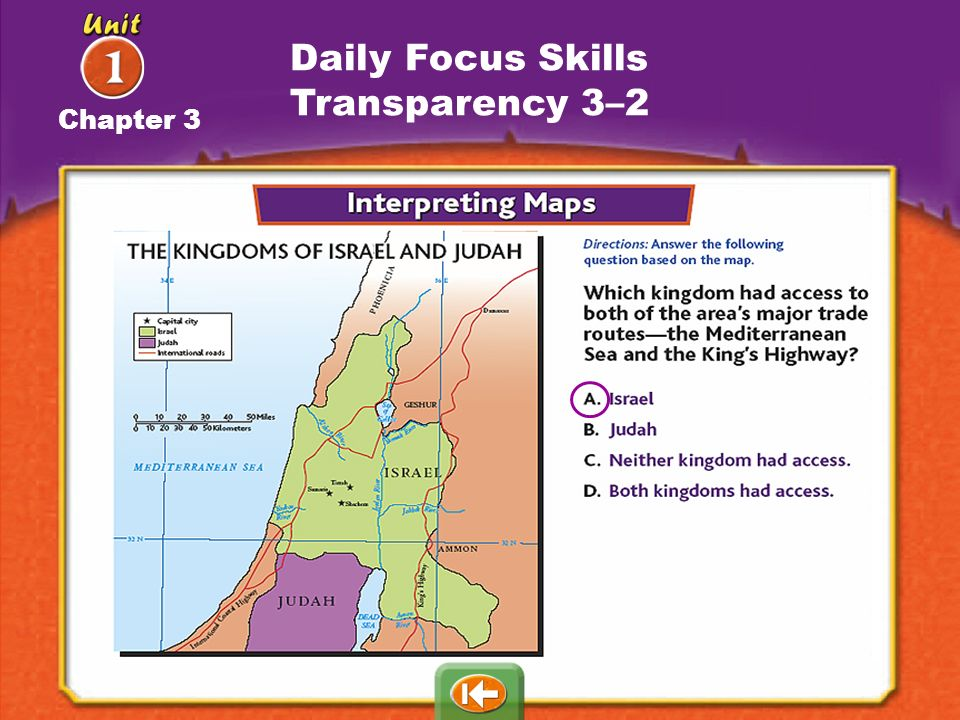 Daily Focus Skills Transparency 3–2 Chapter 3